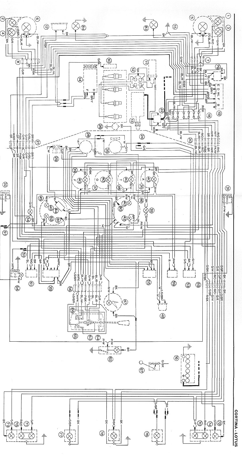 Ford Cortina Mk1 Wiring Diagram