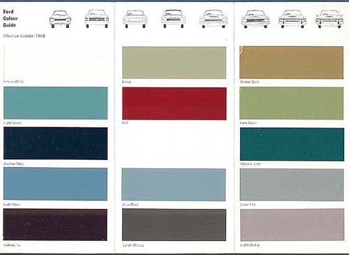 1968 ford colour guide. Black Bedroom Furniture Sets. Home Design Ideas